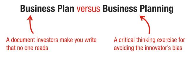 business plan vs business model